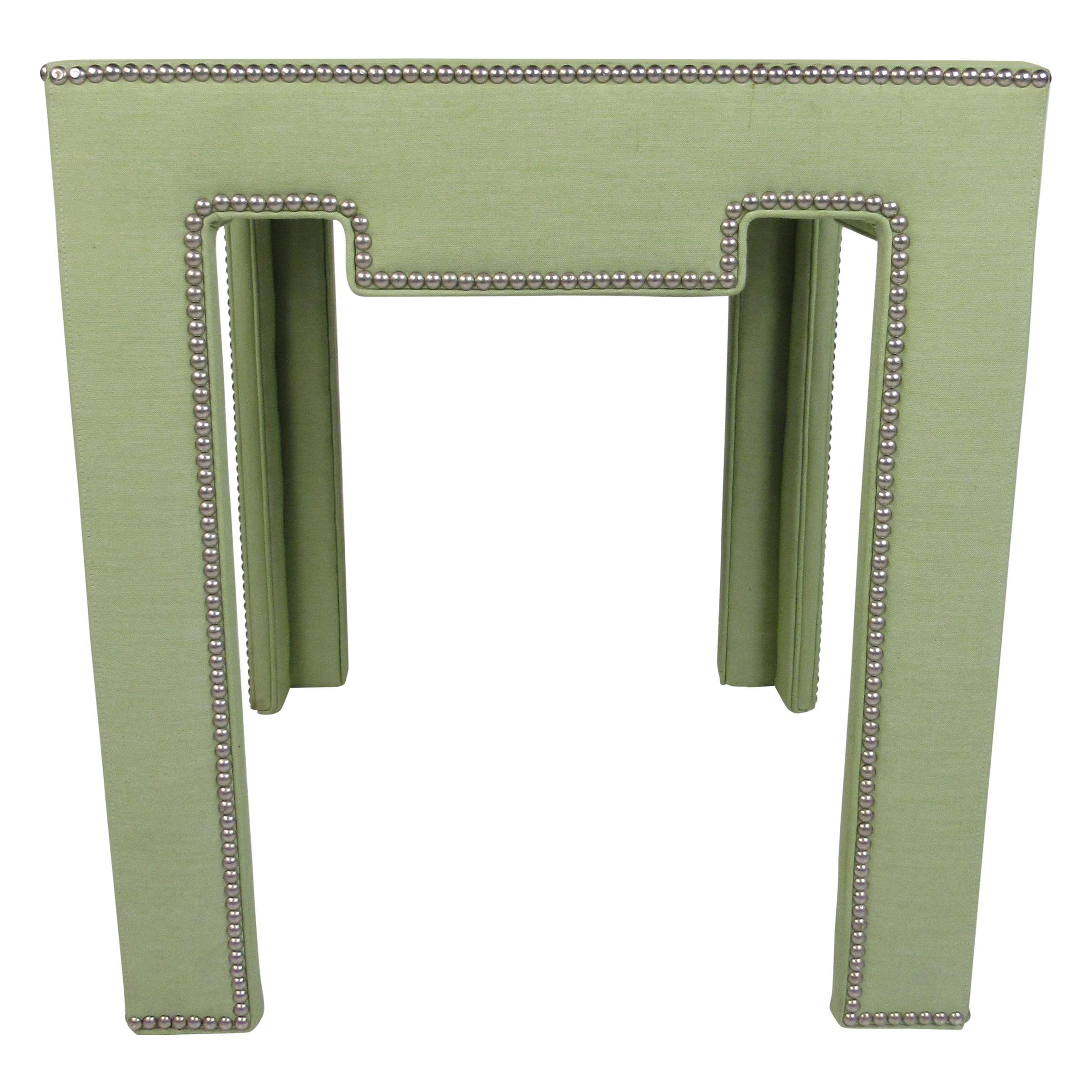 VIntage Dorothy Draper Style Upholstered Side Table