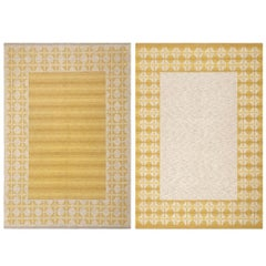 Vintage Double-Sided Swedish Deco Kilim. Size: 5 ft 5 in x 7 ft 10 in