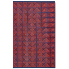 Double-Sided Swedish Kilim. Size: 5 ft x 7 ft 8 in (1.52 m x 2.34 m)