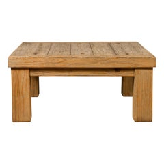 Vintage Driftwood Midcentury Coffee Table from Mexico with Square Legs