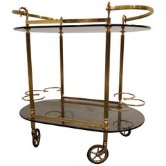 Vintage Drinks Trolley with Smoked Glass, 1960s