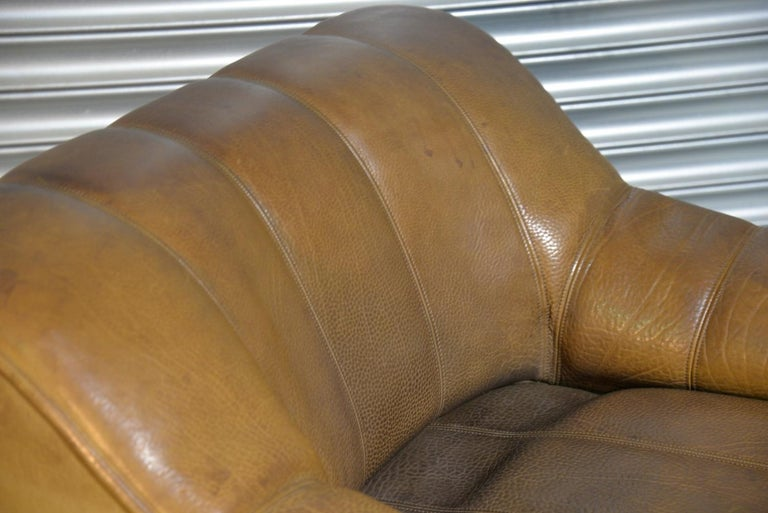Vintage Ds Sede DS 44 Armchairs with Ottoman, Switzerland 1970s 6