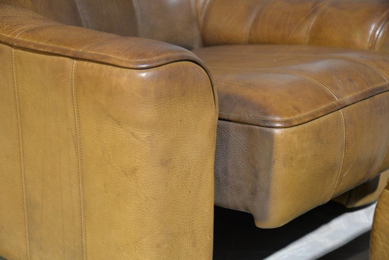 Vintage Ds Sede DS 44 Armchairs with Ottoman, Switzerland 1970s 8