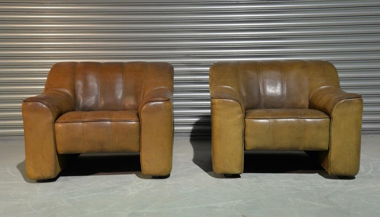 Late 20th Century Vintage Ds Sede DS 44 Armchairs with Ottoman, Switzerland 1970s