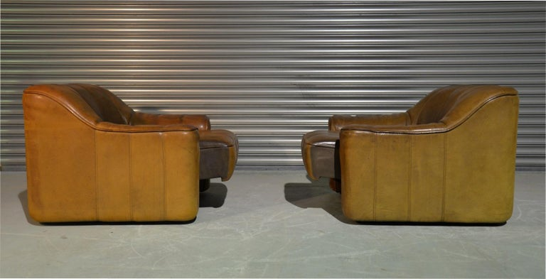 Vintage Ds Sede DS 44 Armchairs with Ottoman, Switzerland 1970s 1