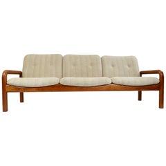 Vintage DScan Solid Teak Danish Modern Sofa Couch