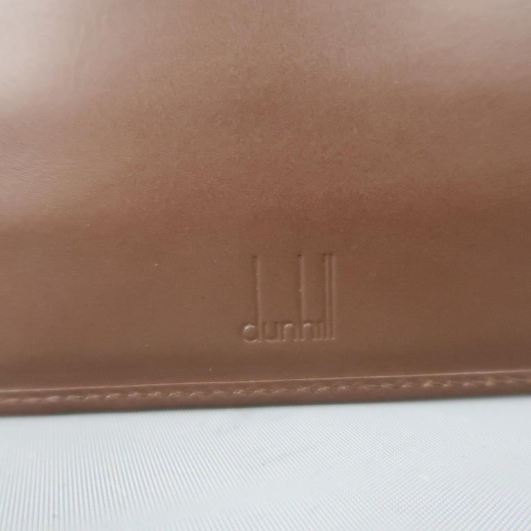 Vintage DUNHILL Brown Leather Binder Portfolio For Sale 7