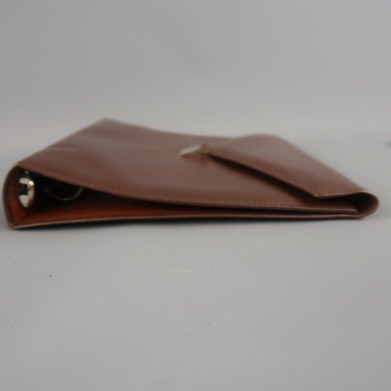 Women's or Men's Vintage DUNHILL Brown Leather Binder Portfolio For Sale