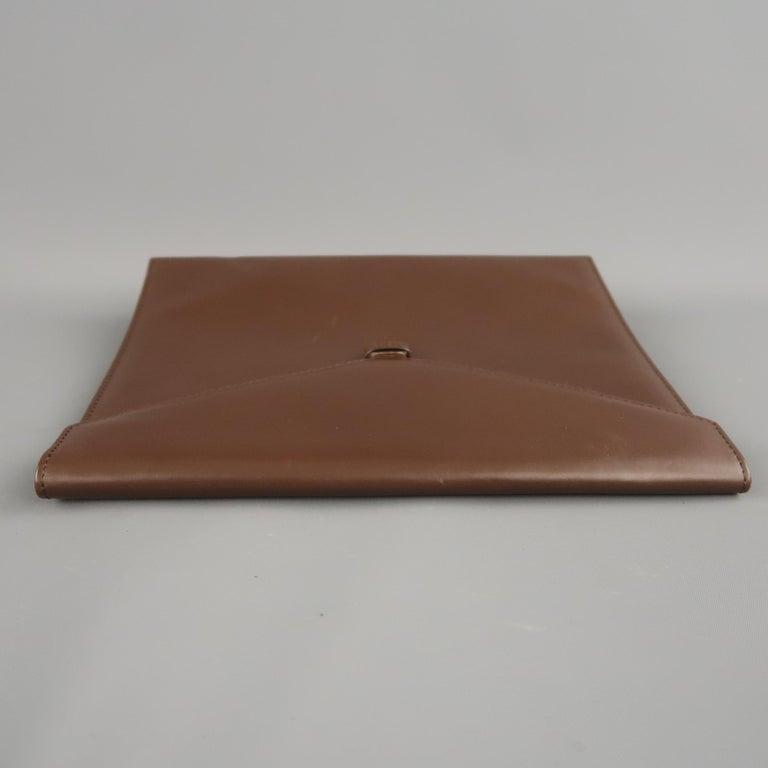 Vintage DUNHILL Brown Leather Binder Portfolio For Sale 1