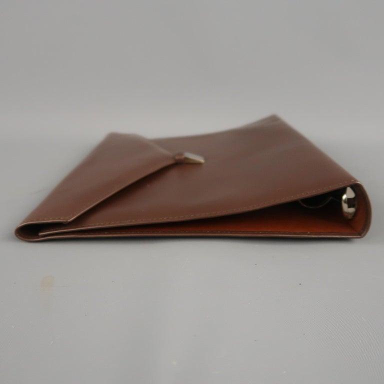 Vintage DUNHILL Brown Leather Binder Portfolio For Sale 2