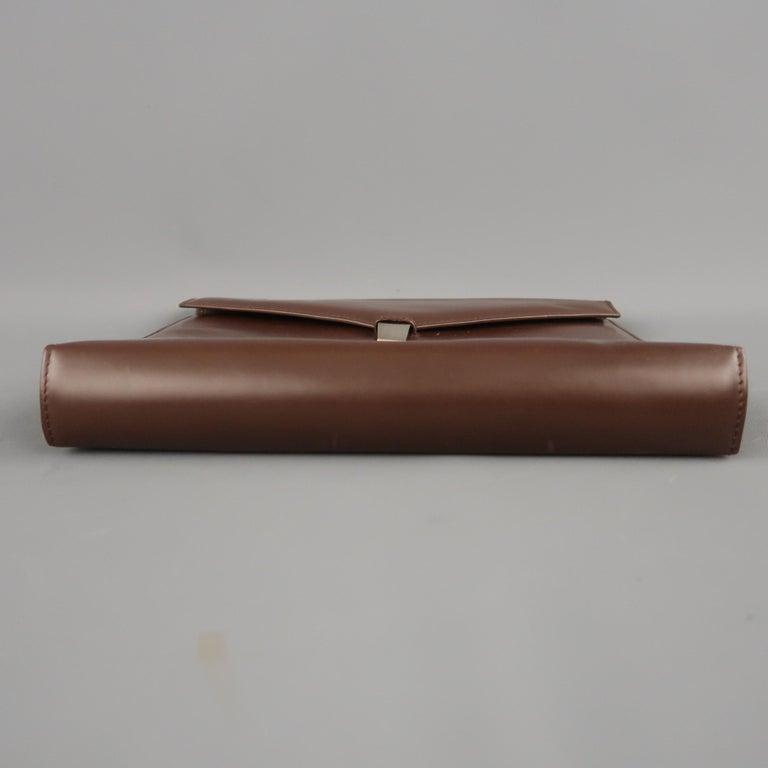 Vintage DUNHILL Brown Leather Binder Portfolio For Sale 3