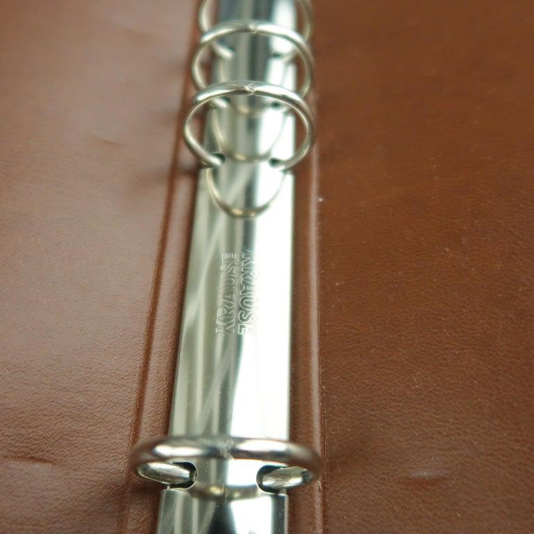 Vintage DUNHILL Brown Leather Binder Portfolio For Sale 5