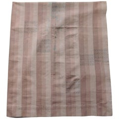 Vintage Dusty Pink Stripe African Yoruba Textile Panel