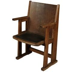 Vintage Dutch Armchair in Oak, 1930s