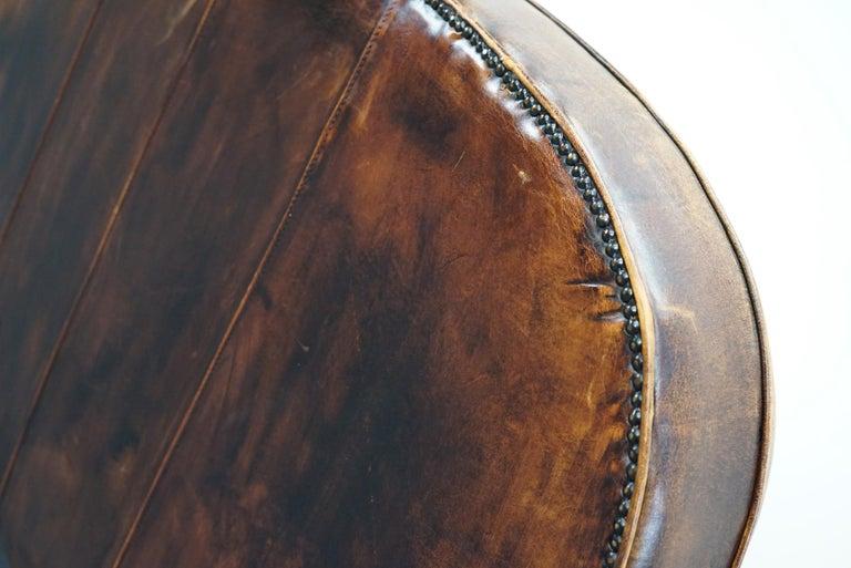 Vintage Dutch Cognac Leather 2-Seat Sofa 7
