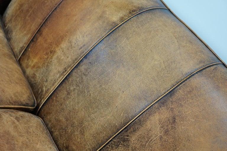 Vintage Dutch Cognac Leather 2-Seat Sofa 1