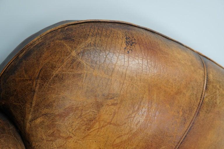 Vintage Dutch Cognac Leather 2-Seat Sofa 2