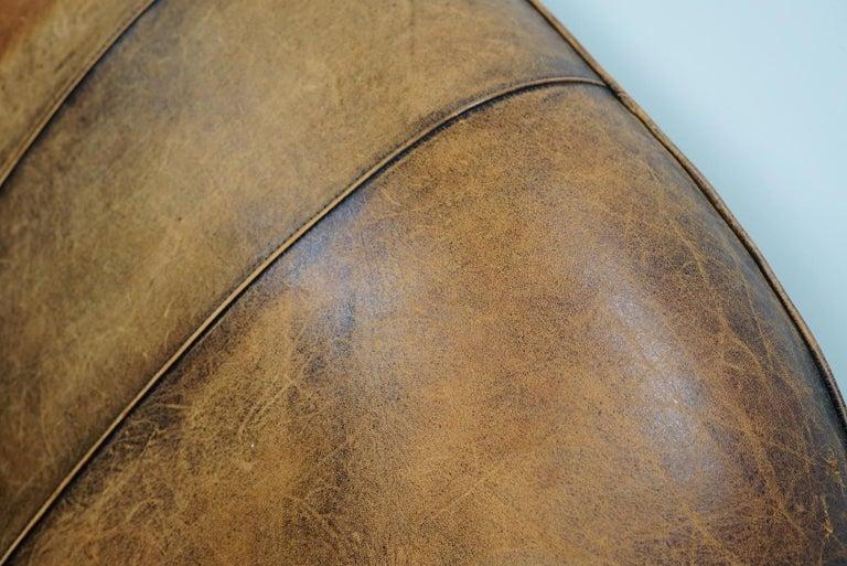 Vintage Dutch Cognac Leather 2-Seat Sofa 3