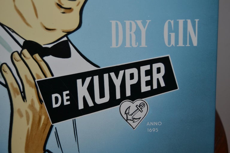 Vintage Dutch Counter Top Advertising Sign for Gin In Good Condition For Sale In Antwerp, BE