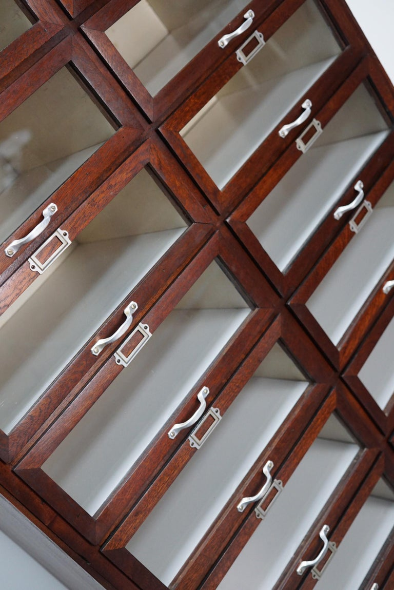 Vintage Dutch Mahogany Haberdashery Shop Cabinet, 1930s For Sale 4