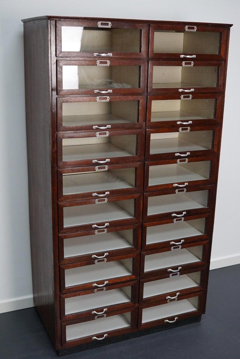 Vintage Dutch Mahogany Haberdashery Shop Cabinet, 1930s For Sale 5