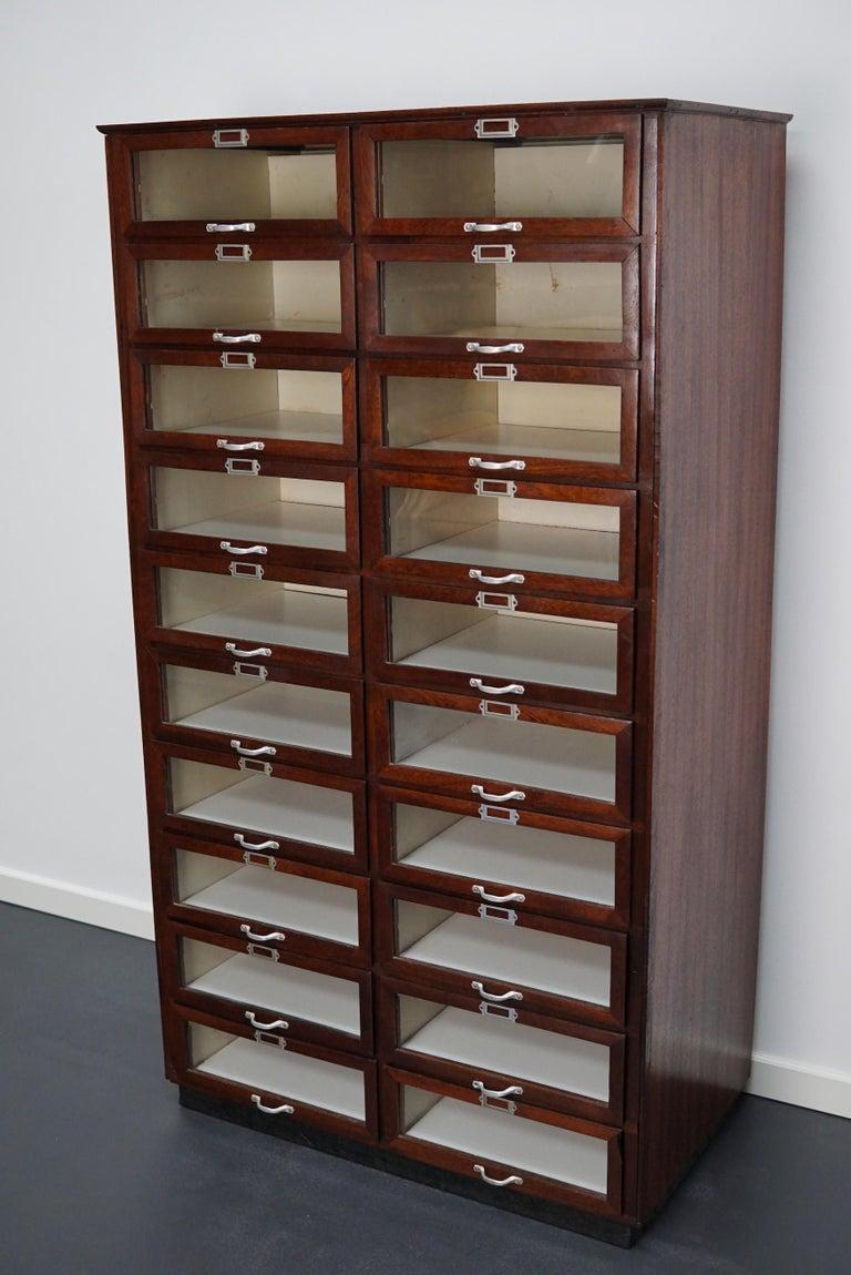 Vintage Dutch Mahogany Haberdashery Shop Cabinet, 1930s For Sale 6