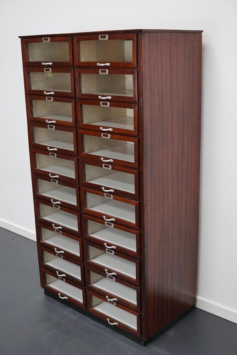 Vintage Dutch Mahogany Haberdashery Shop Cabinet, 1930s For Sale 8