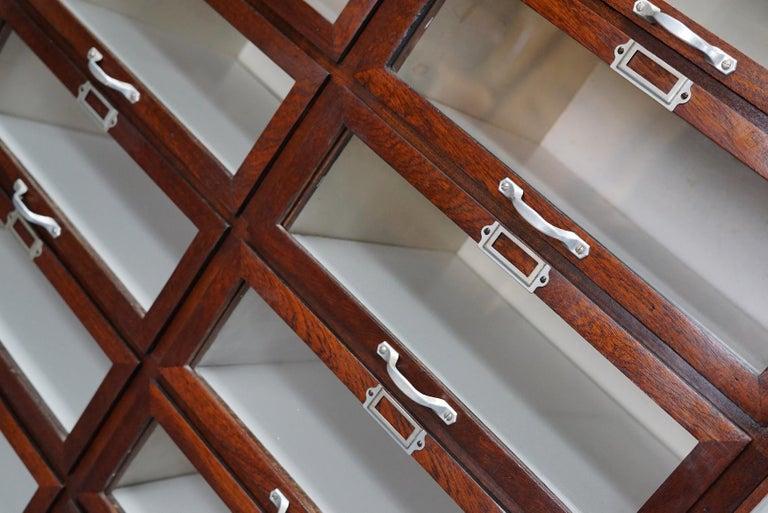 Vintage Dutch Mahogany Haberdashery Shop Cabinet, 1930s For Sale 10