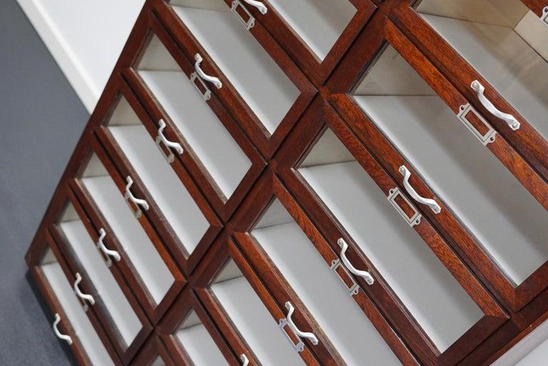 Vintage Dutch Mahogany Haberdashery Shop Cabinet, 1930s For Sale 11