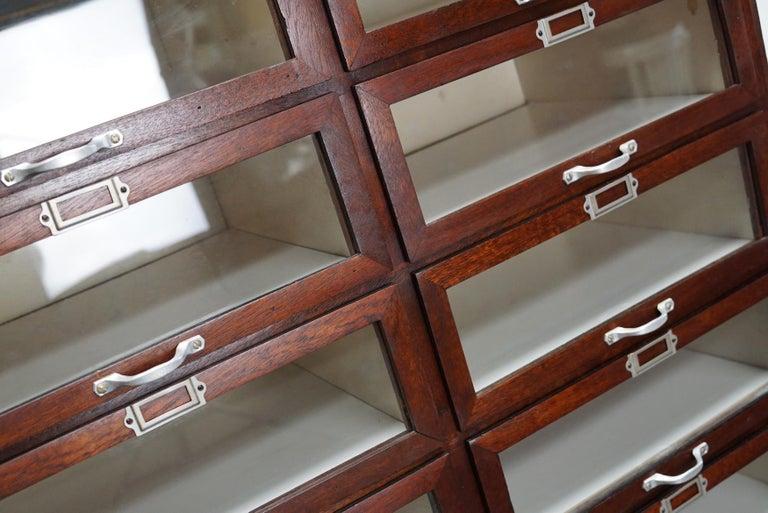 Vintage Dutch Mahogany Haberdashery Shop Cabinet, 1930s For Sale 14