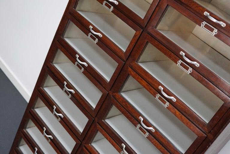 Veneer Vintage Dutch Mahogany Haberdashery Shop Cabinet, 1930s For Sale