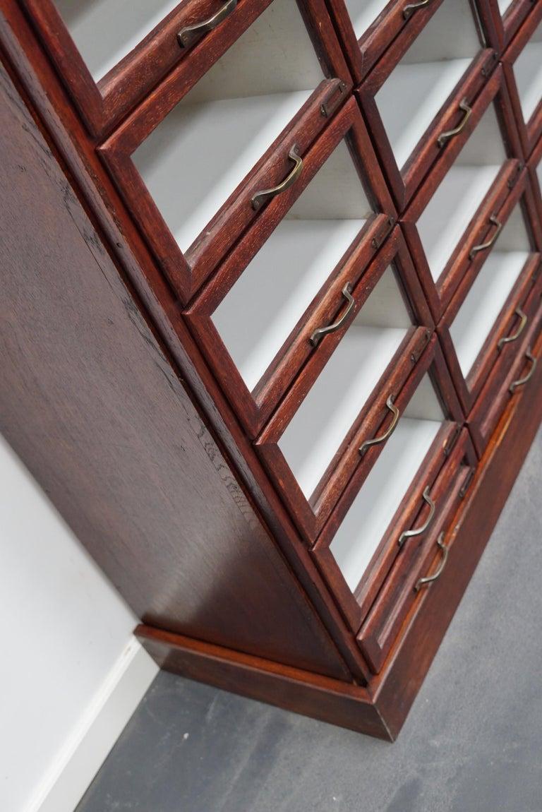 Vintage Dutch Oak Haberdashery Shop Cabinet, 1930s For Sale 9