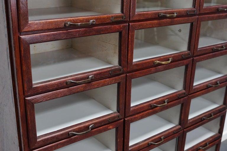Vintage Dutch Oak Haberdashery Shop Cabinet, 1930s For Sale 10