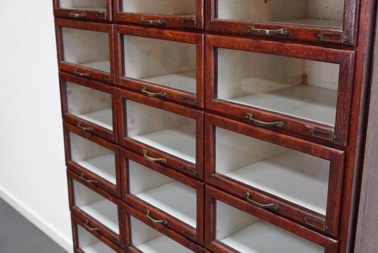 Mid-20th Century Vintage Dutch Oak Haberdashery Shop Cabinet, 1930s For Sale