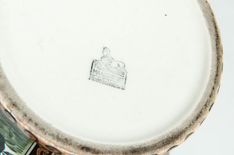 Vintage Dutch Porcelain Covered Urn For Sale 3