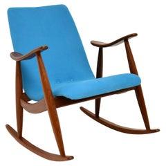 Vintage Dutch Rocking Chair by Louis Van Teefelen