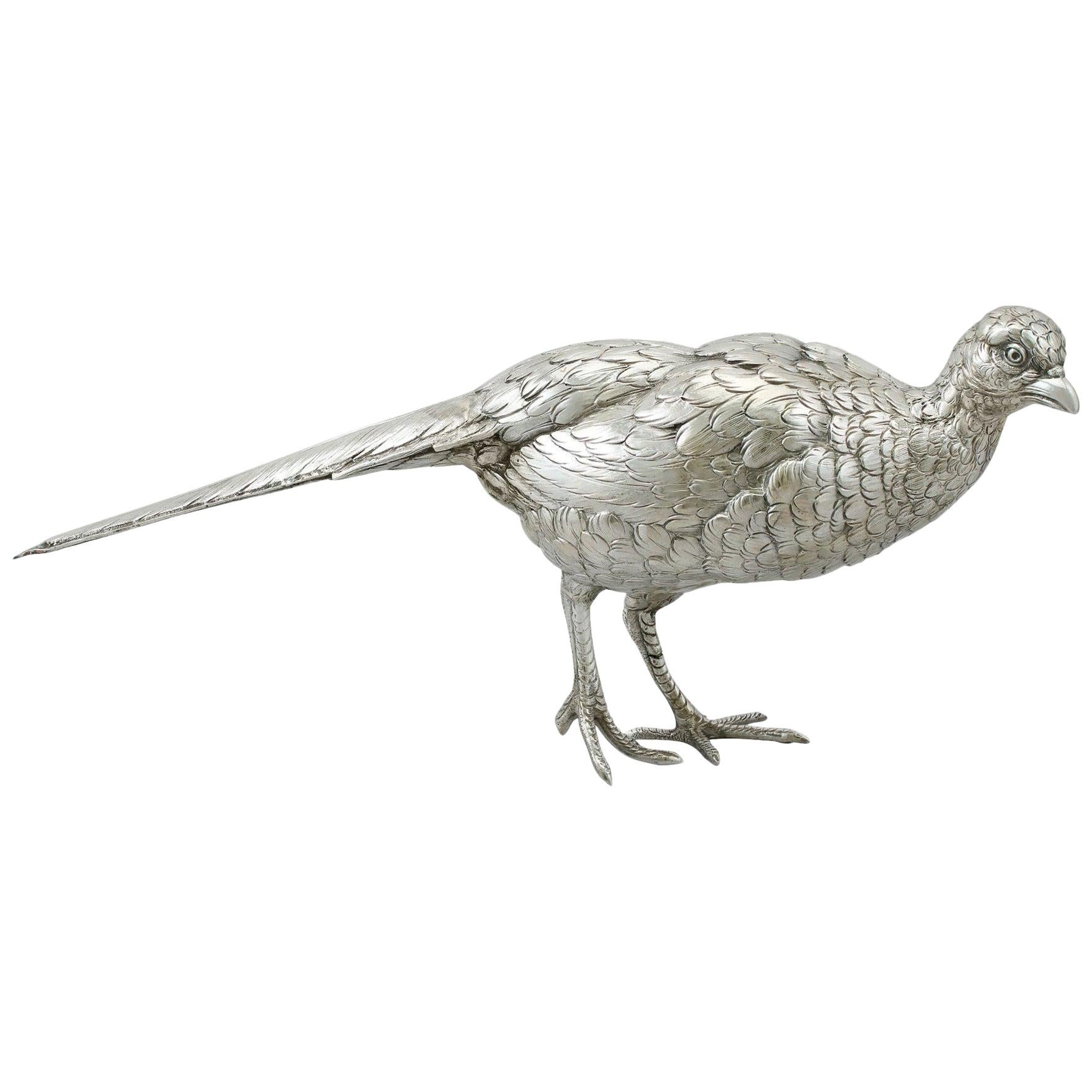 Vintage Dutch Silver Table Pheasant circa 1990