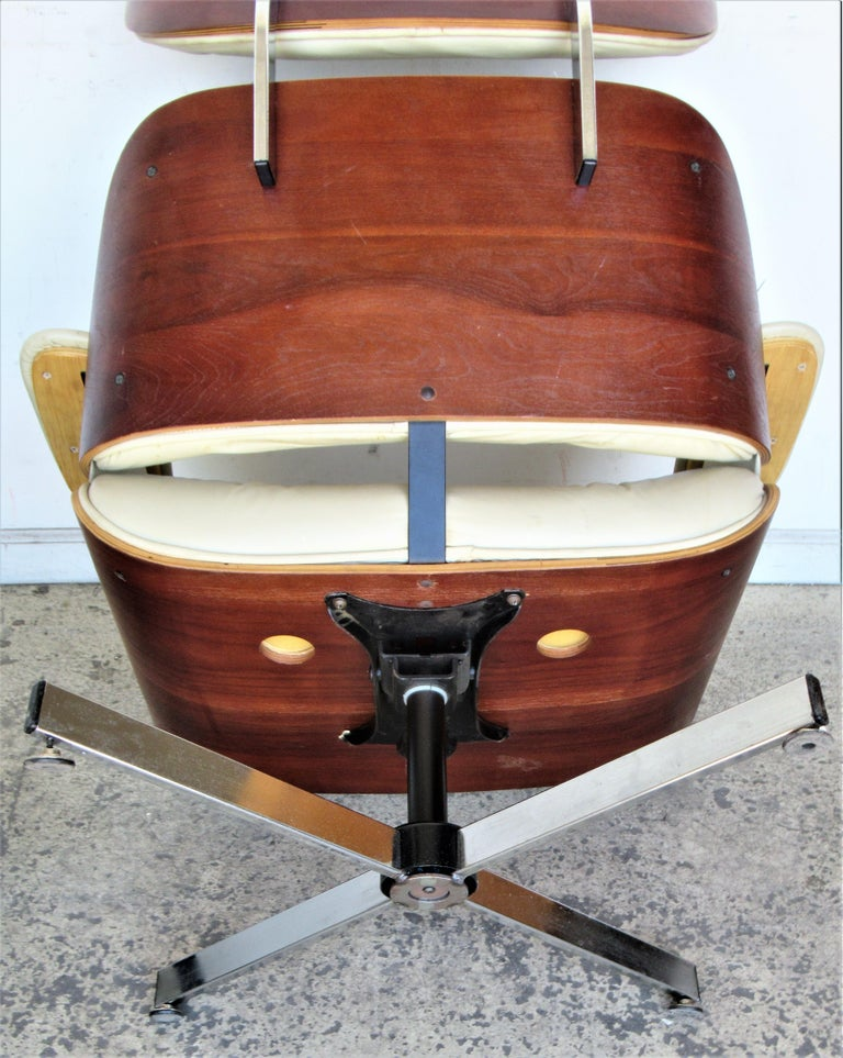 Vintage Eames Style Lounge Chair and Ottoman For Sale 3