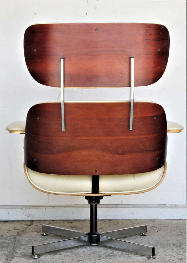 Vintage Eames Style Lounge Chair and Ottoman For Sale 4