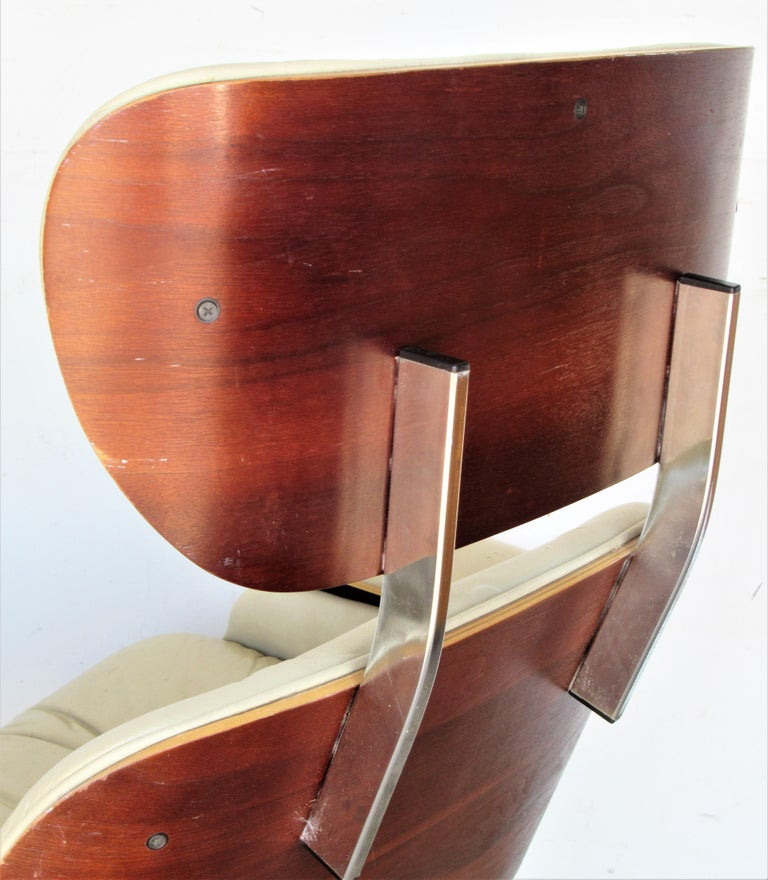 Vintage Eames Style Lounge Chair and Ottoman For Sale 6