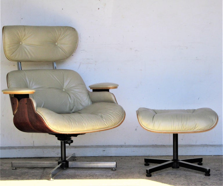 Vintage Eames Style Lounge Chair and Ottoman For Sale 7