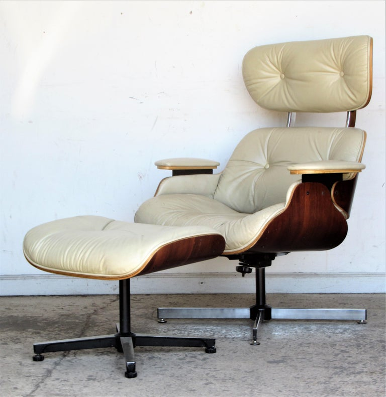 Vintage Eames Style Lounge Chair and Ottoman For Sale 9