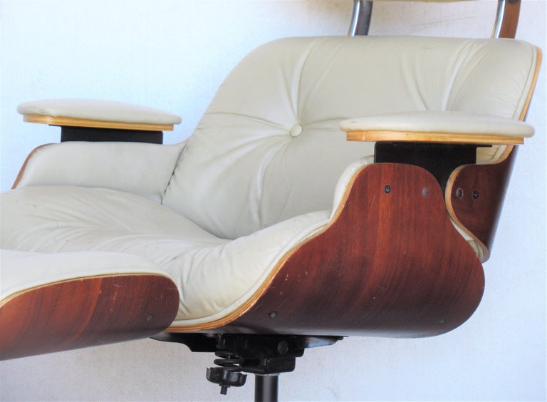 Vintage Eames Style Lounge Chair and Ottoman For Sale 10