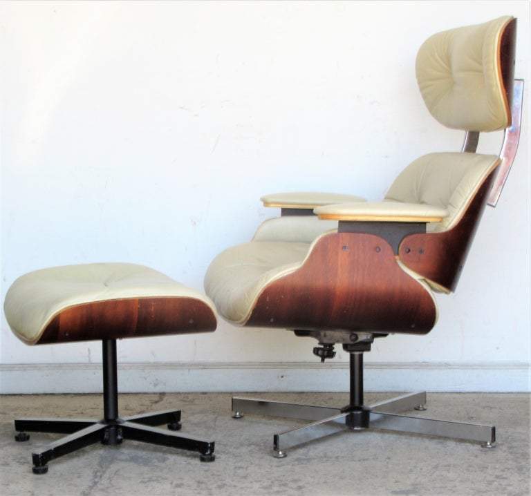 Vintage Eames Style Lounge Chair and Ottoman For Sale 12