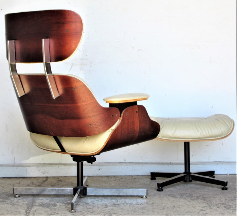 American Vintage Eames Style Lounge Chair and Ottoman For Sale