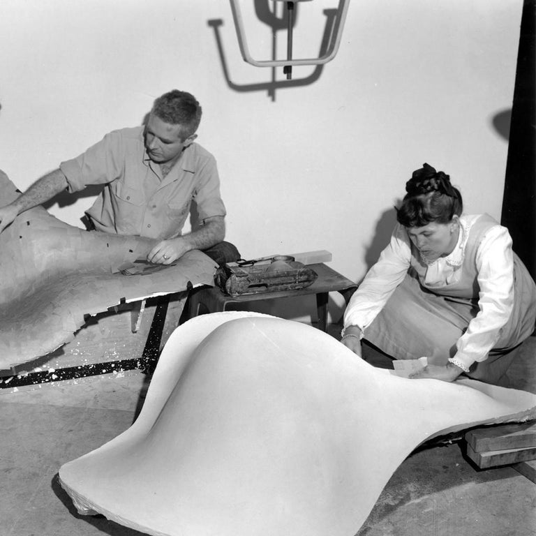 Vintage Eames Vitra La Chaise Chair, Original, Fiberglass First Generation, 1992 For Sale 3