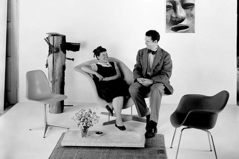 Vintage Eames Vitra La Chaise Chair, Original, Fiberglass First Generation, 1992 For Sale 4