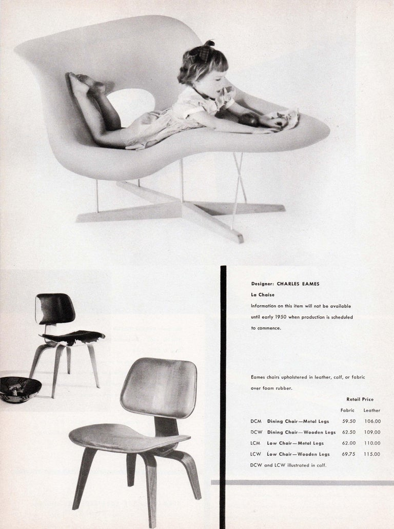 Vintage Eames Vitra La Chaise Chair, Original, Fiberglass First Generation, 1992 For Sale 5