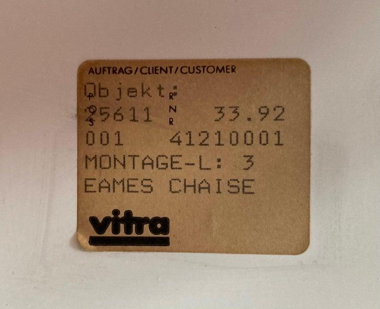 Vintage Eames Vitra La Chaise Chair, Original, Fiberglass First Generation, 1992 For Sale 9