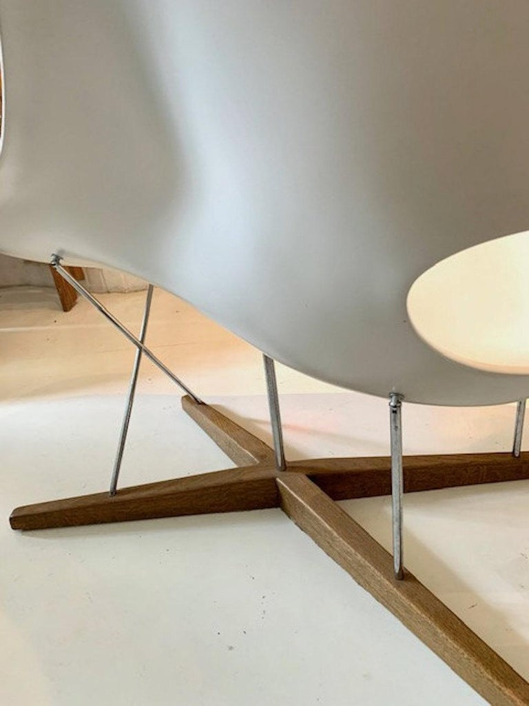 Vintage Eames Vitra La Chaise Chair, Original, Fiberglass First Generation, 1993 For Sale 4